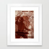 Snakes! Why'd it have to be snakes? Framed Art Print