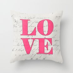love - pink Throw Pillow