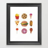 Junk Food Framed Art Print