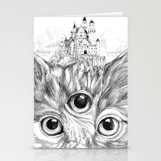 3eyes B&W Stationery Card