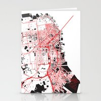 San Francisco Noise Map Stationery Cards