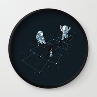 Hopscotch Astronauts Wall Clock