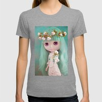 Enchanted Petal Womens Fitted Tee Tri-Grey SMALL