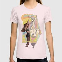 Native Elephant Womens Fitted Tee Light Pink SMALL