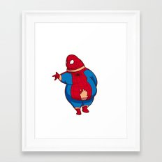 What if superhero was fat(spider-man) Framed Art Print