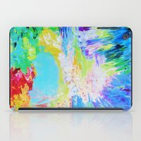 IN DREAMS - Gorgeous Bold Colors, Abstract Acrylic Idyllic Forest Landscape Secret Garden Painting iPad Case