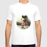 Mickey's Kingdom Mens Fitted Tee White SMALL