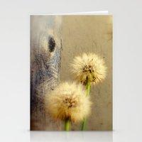 Tree Hugging Dandelions Stationery Cards
