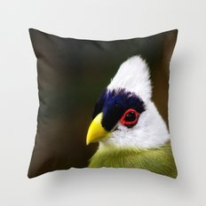 White Crested Turaco Throw Pillow