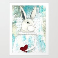 Art Print featuring The Red Heart by Sarah Ogren