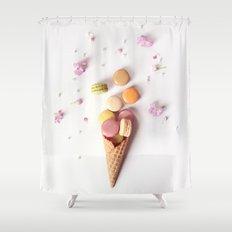 Macaron Cone Shower Curtain