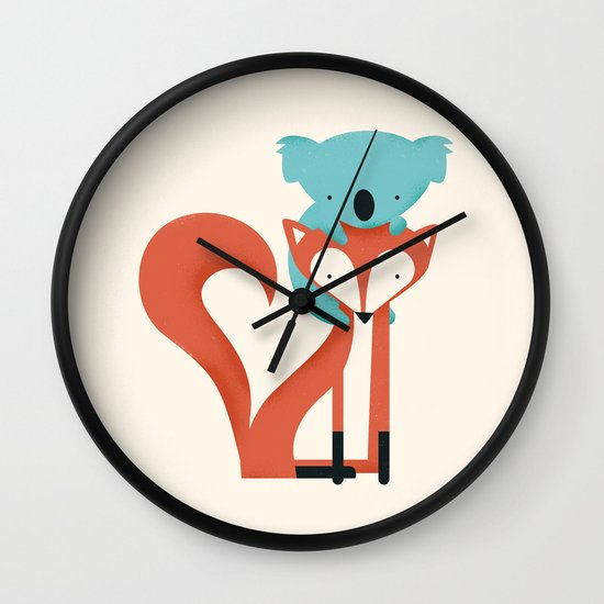 Fox & Koala Wall Clock