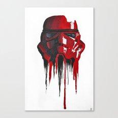 Procrastination in red 1 Canvas Print