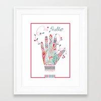 Hi helllo Framed Art Print