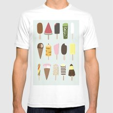 Happiness SMALL White Mens Fitted Tee