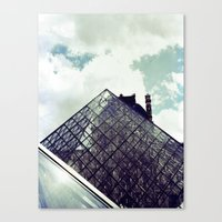 Louvre Pyramid I Canvas Print