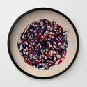 - red blue - Wall Clock