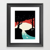 When The Moonfish Come T… Framed Art Print