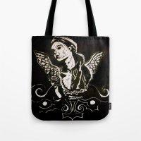 Black (Wings/Angel) Tote Bag