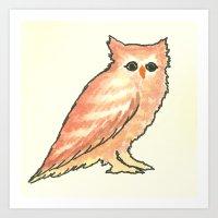 Fade In Owl Art Print