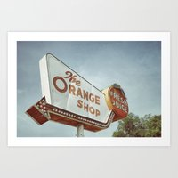 Orange Shop Art Print
