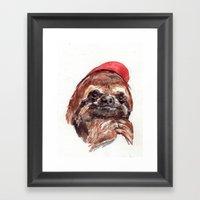 Sloth Kiddo Framed Art Print