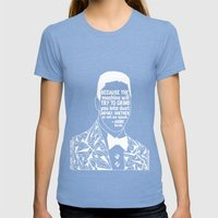 Eric Garner - Black Lives Matter - Series - Black Voices Womens Fitted Tee Tri-Blue SMALL