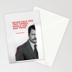 Ron Swanson - Never Half Ass Stationery Cards