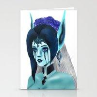 Morgana: Fallen Angel Stationery Cards