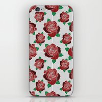 rose & dots pattern iPhone & iPod Skin