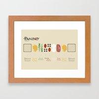 Panino recipe  Framed Art Print