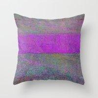 pink static Throw Pillow