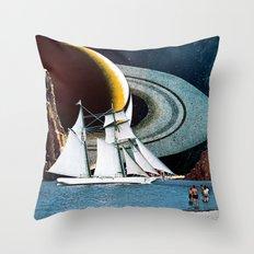 Orbital Sailing Throw Pillow