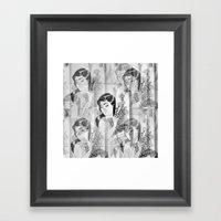 Florist Girl Framed Art Print