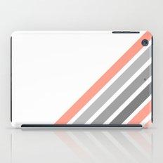Diagonal Stripe in Coral iPad Case