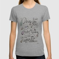 Happiness Womens Fitted Tee Athletic Grey SMALL