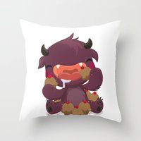 Monstrous Collab Throw Pillow