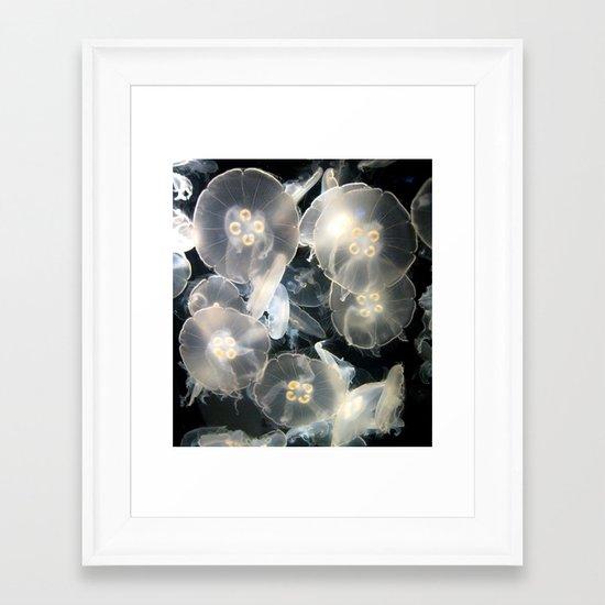JellyFish Garden Framed Art Print