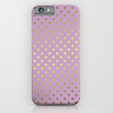 Lavender and Gold Polka Dots Pattern Slim Case iPhone 6s