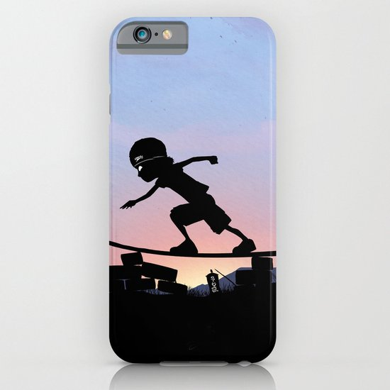 Silver Surfer Kid iPhone & iPod Case