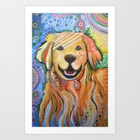 Max ... Abstract Dog Art… Art Print