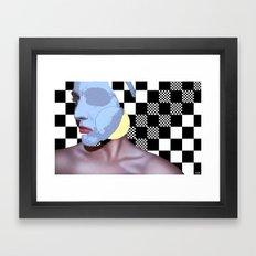 Masked Beauty  Framed Art Print