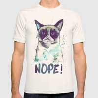 Grumpy Cat Mens Fitted Tee Natural SMALL