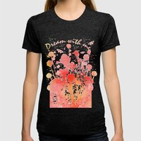 DREAM Womens Fitted Tee Tri-Black SMALL