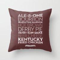 Louisville —Delicious City Prints Throw Pillow