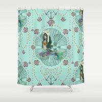 Mermaid Deco Shower Curtain