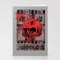 Red Skull 1913 Stationery Cards