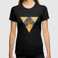 Pyramid Womens Fitted Tee Tri-Black SMALL