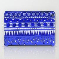 Yzor pattern 007-2 blue iPad Case