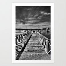 Boardwalk Mono Art Print